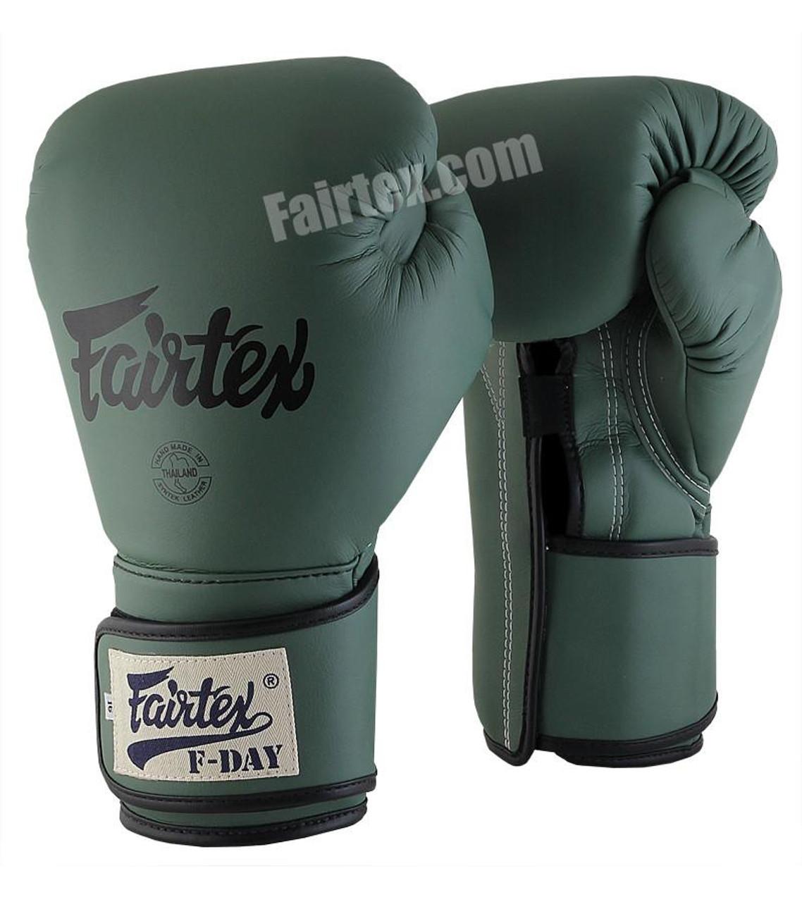 FAIRTEX GREEN FDAY LIMITED EDITION UNIVERSAL MUAY THAI/BOXING GLOVES