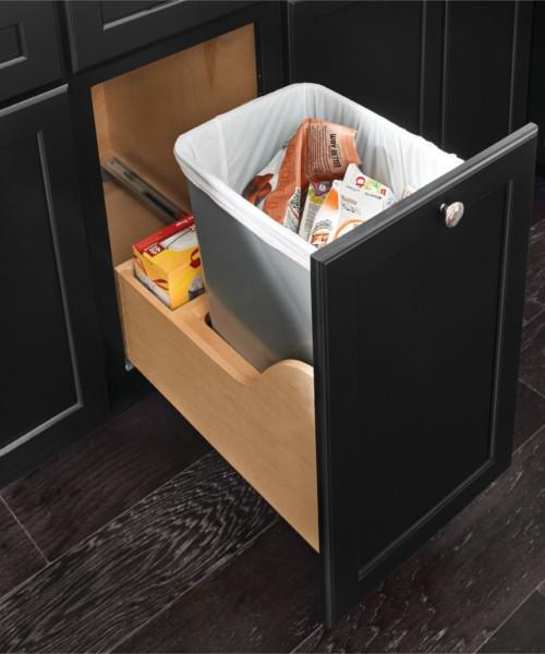 Base Bottom Mount Wastebasket - Single with Auto-Open