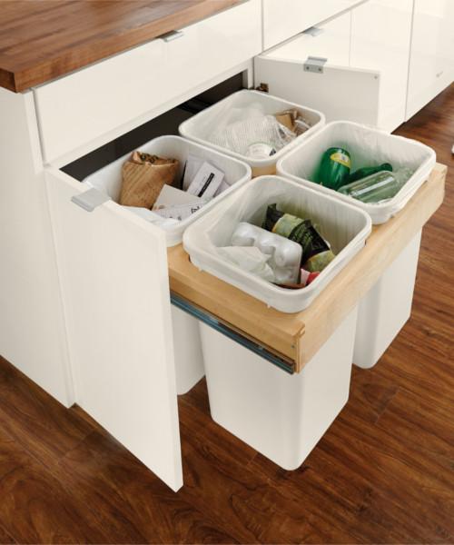 Base Top Mount Wastebasket - Recycling Center