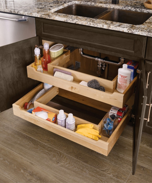 Sink Base U-Shaped Deluxe Roll-out