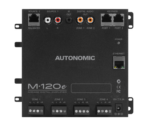 Autonomic® M-120e Digital Amplifier | 15W x 8 Channels