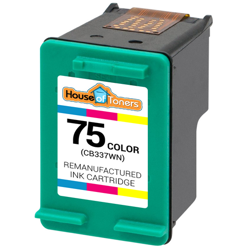 2 Pack Valuetoner Remanufactured Ink Cartridge Replacement for HP 75XL High Yield CH624BN CB338WN 2 Tri-Color