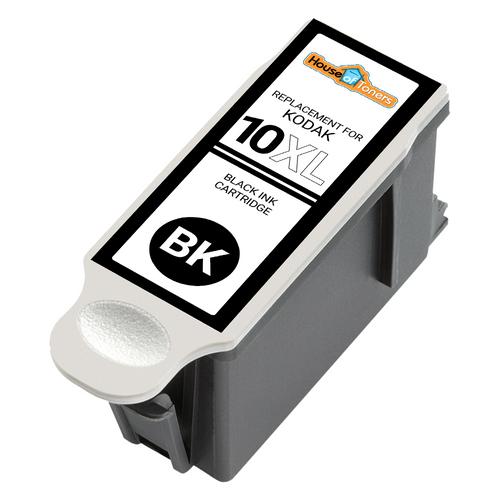 HOTCOLOR Compatible Ink Cartridge Replacements for Kodak #10XL Black Kodak #10 10XL Color Work for Kodak 5100 5300 5500 3250 5250 ESP3 ESP5 ESP7 ESP9 Printer 4-Pack 2 Color 2 Black