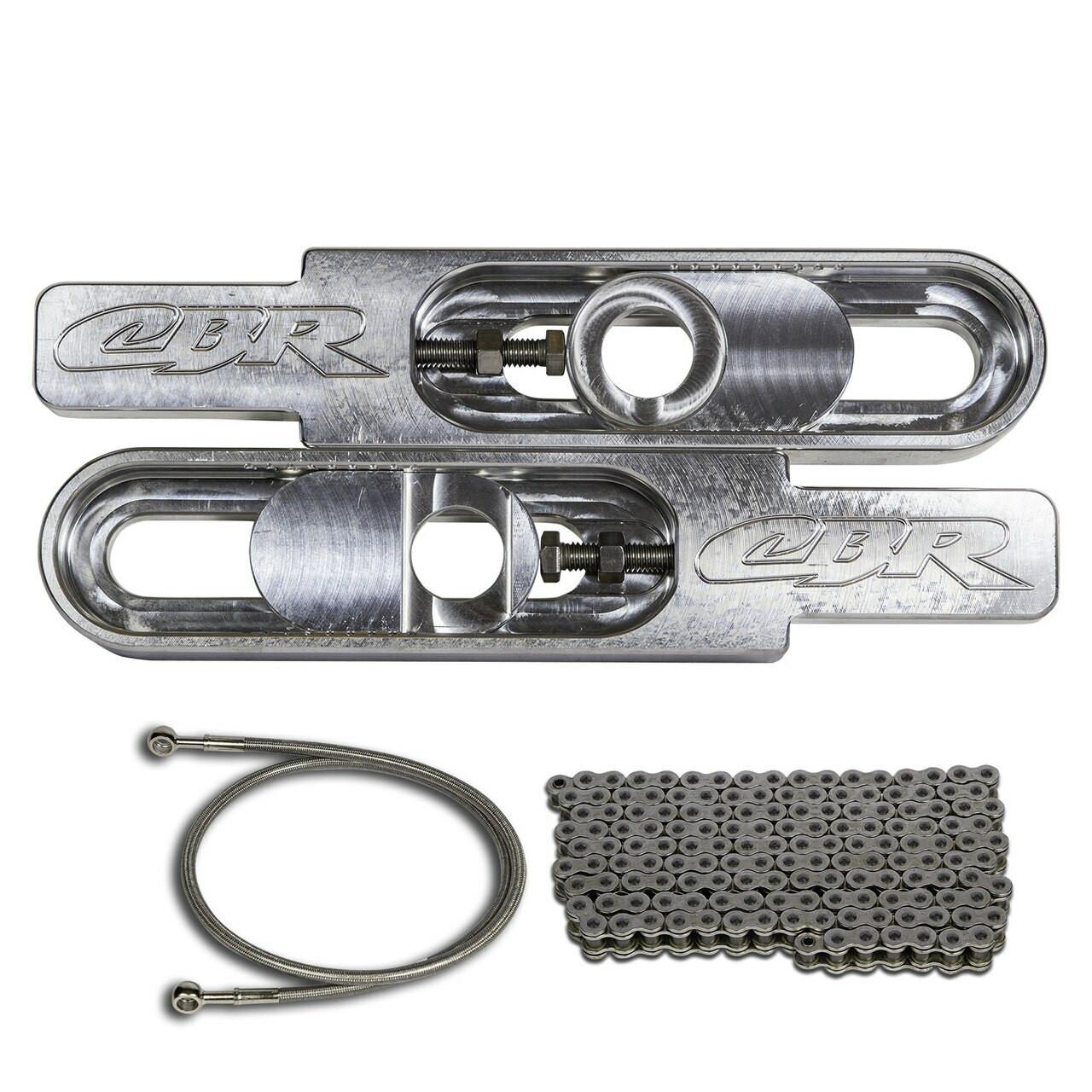 "Hayabusa extensions 2005 Hayabusa Swingarm Extensions Chain /& 36/"" Brake Line"