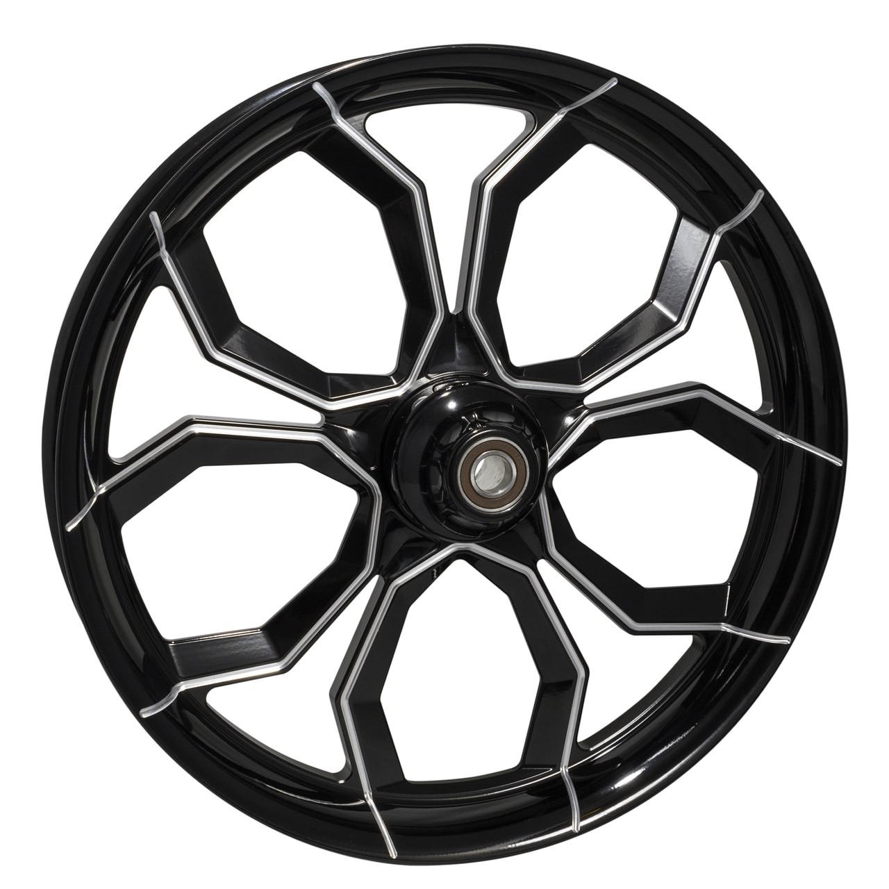 Black Contrast Trike, Tri Glide, Freewheeler Wheels