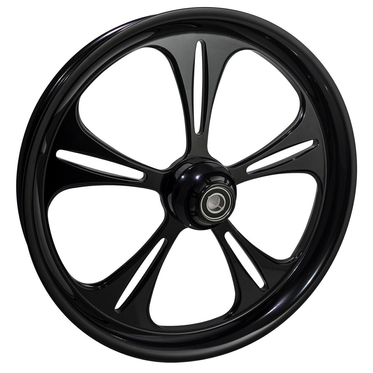 21 inch Black Road Glide Wheels by FTD Customs
