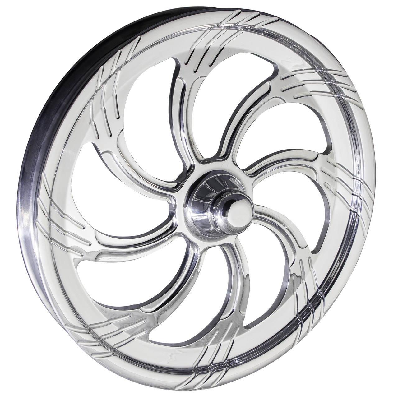 Slasher dragster Front Wheels Polished
