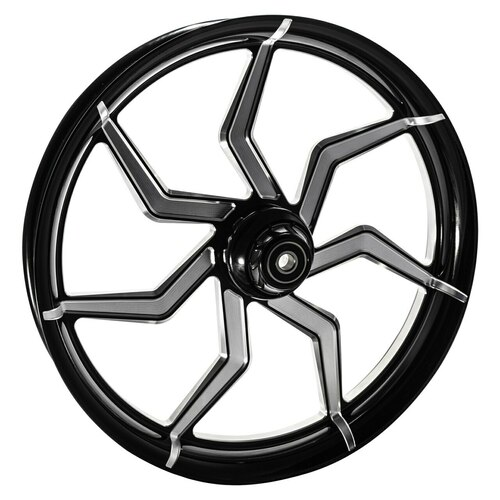 21 inch Black Contrast Cut Street Glide Wheels