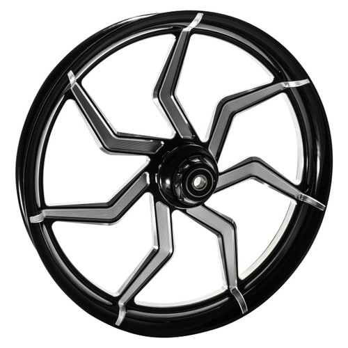 Black Contrast Road King Wheels