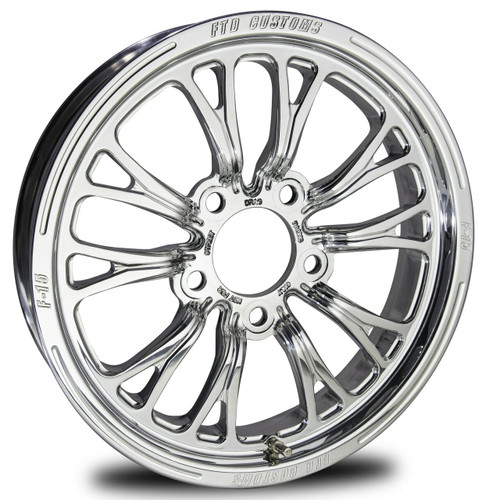 FTD Customs F15 Drag Racing Wheels Polished