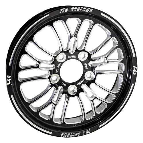 F22 Drag Racing Wheel - FTD Customs black anodized Drag Race Wheel