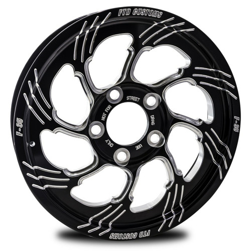 F35 Drag Racing Wheel - FTD Customs black anodized Drag Race Wheel