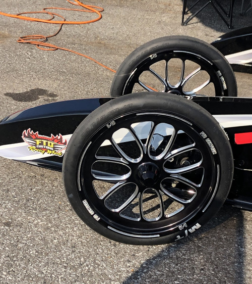 A10 Spindle Mount Dragster Front Wheels