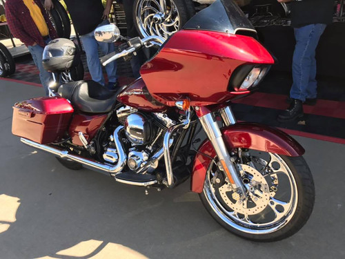 Harley Davidson Chrome Wide Tire Front Wheel - 3-Shot