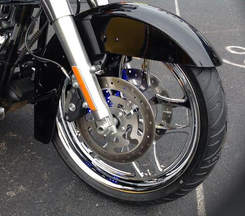 Harley Davidson Chrome Wide Tire Front Wheel -Thrasher