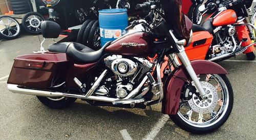 Harley Davidson Chrome Wide Tire Front Wheel -Wizard