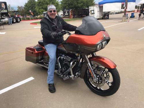 Harley Davidson Black Contrast Wide Tire Front Wheel -3 Shot