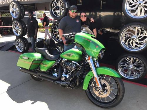 Harley Davidson Black Contrast Wide Tire Front Wheel -Viper