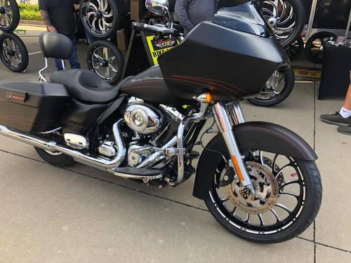 Harley Davidson Black Contrast Wide Tire Front Wheel -Nightmare-LD