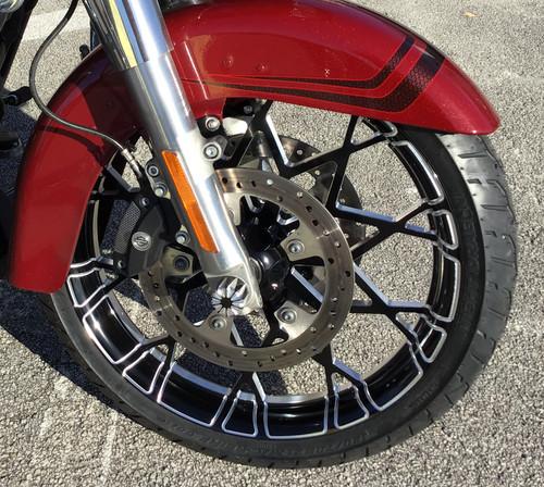 Harley Davidson Black Contrast Wide Tire Front Wheel -Prodigy