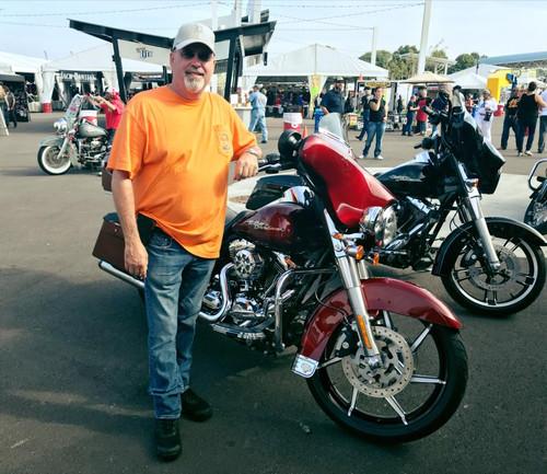 Harley Davidson Black Contrast Wide Tire Front Wheel -Sniper