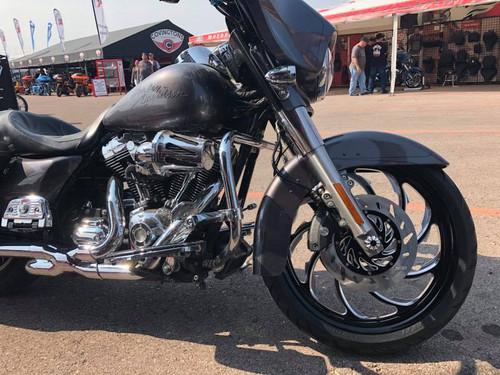 Harley Davidson Black Contrast Wide Tire Front Wheel -Venom