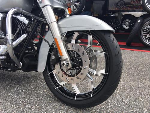 Harley Davidson Black Contrast Wide Tire Front Wheel -Widow