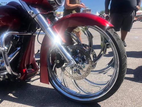 Harley Davidson Chrome Harley Trike and Freewheeler Wheels Venom