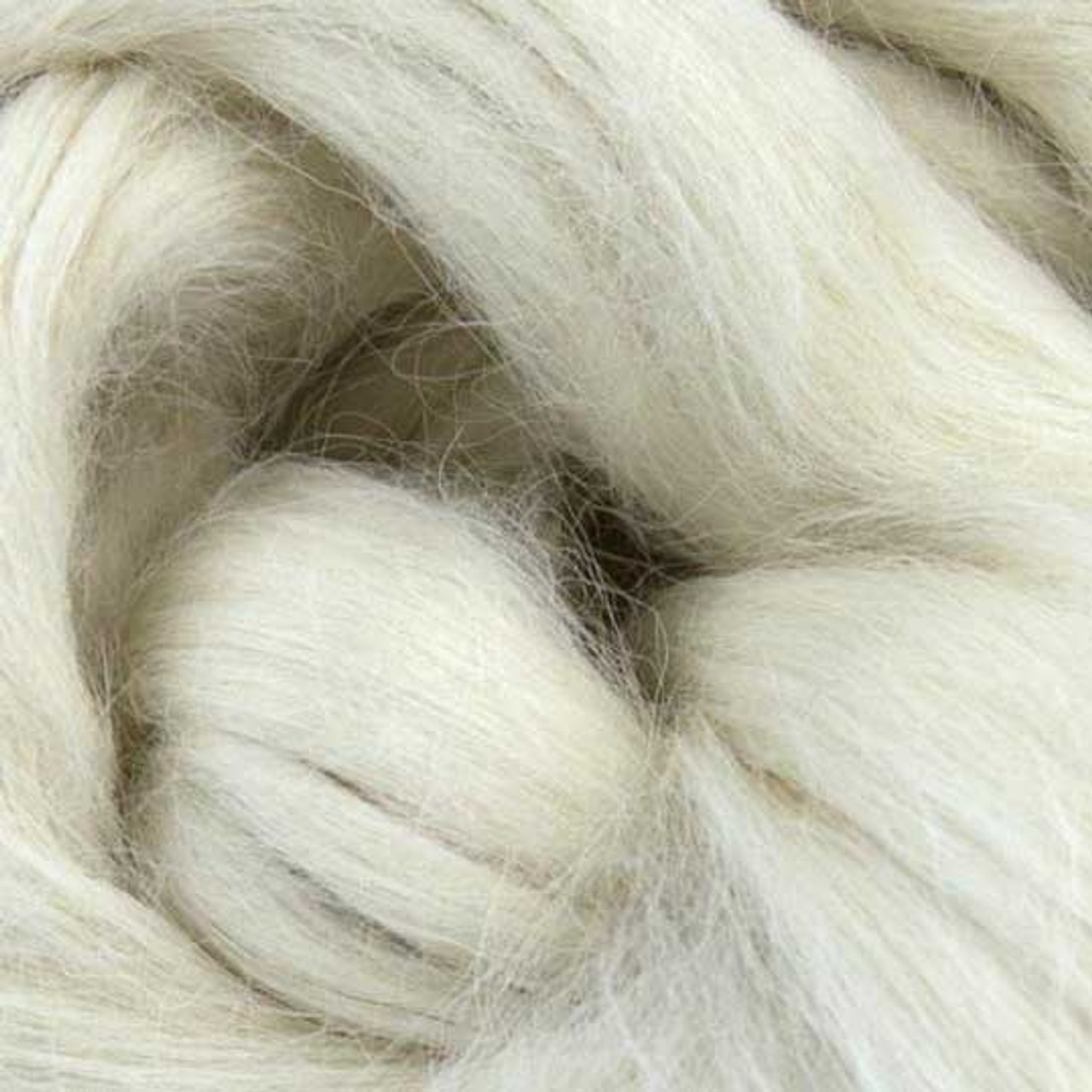 Warm White Suri Alpaca Roving