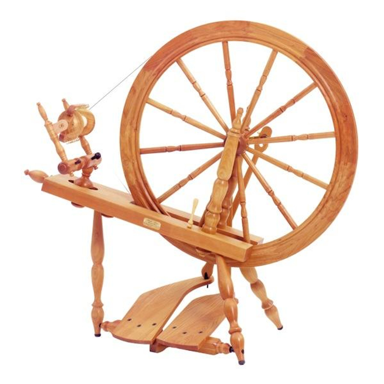 Schacht Reeves Spinning Wheel - Double Treadle - Cherry