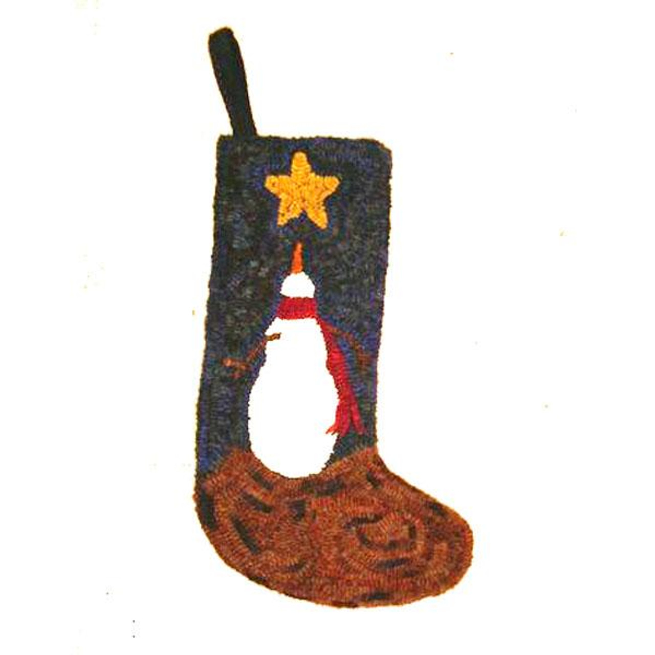Snowman Christmas Stocking Rug Hooking Kit