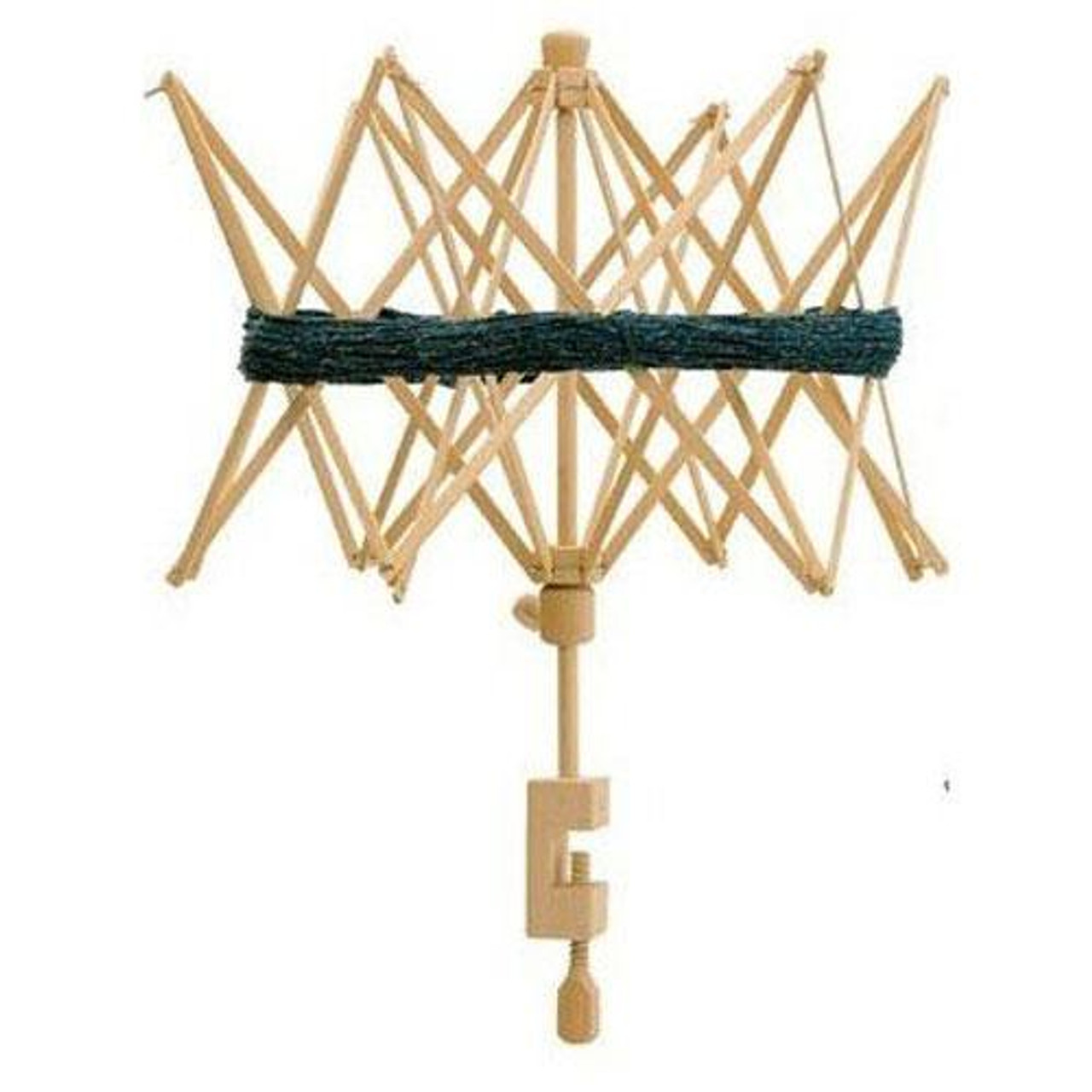 Umbrella Yarn Skein Winder Swift table top Made in Sweden