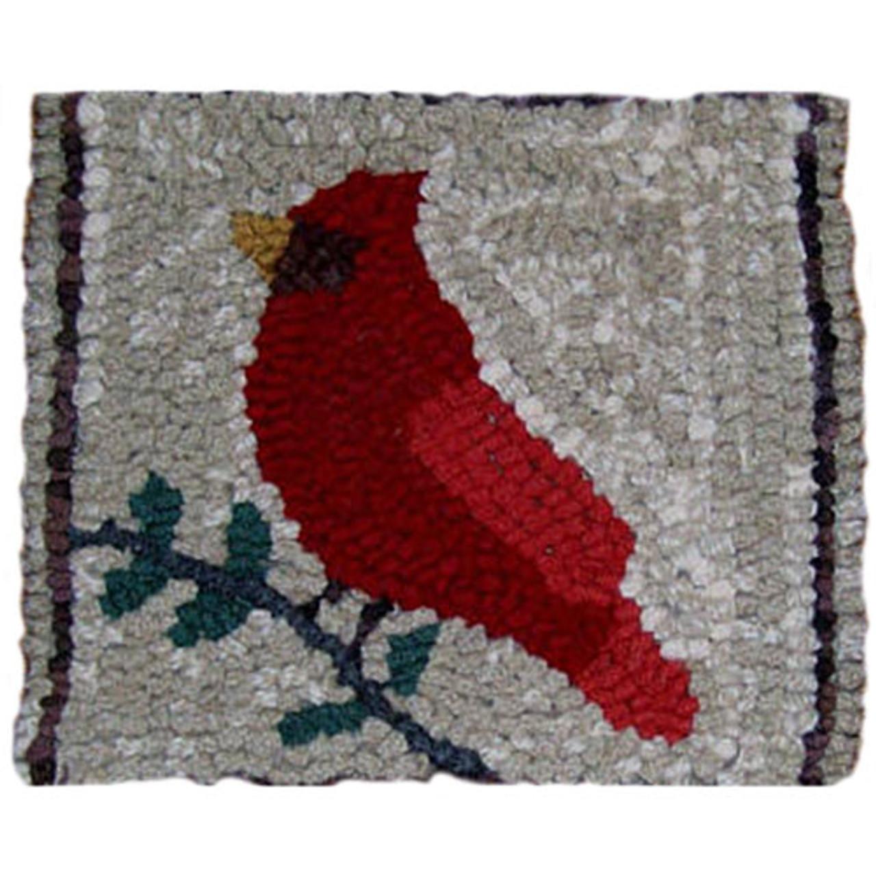 Beginner Rug Hooking Kit Cardinal On Oats