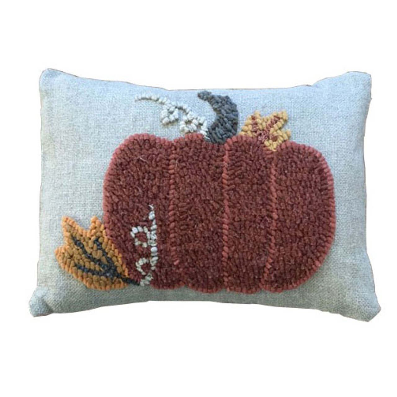 Pillow Rug Hooking Kit Harvest Pumpkin