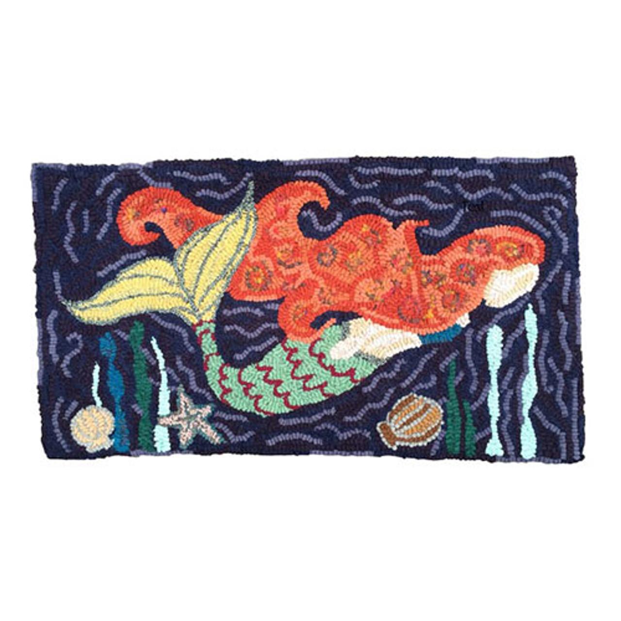 Rug Hooking Kit Deep Sea Mermaid
