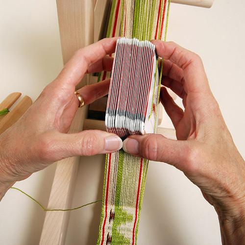 Healifty 100pcs Weaving Cards Paper Loom Cards for Loom or Inkle Loom Weaving Supplies