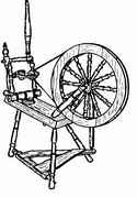 Saxony spinning wheel.