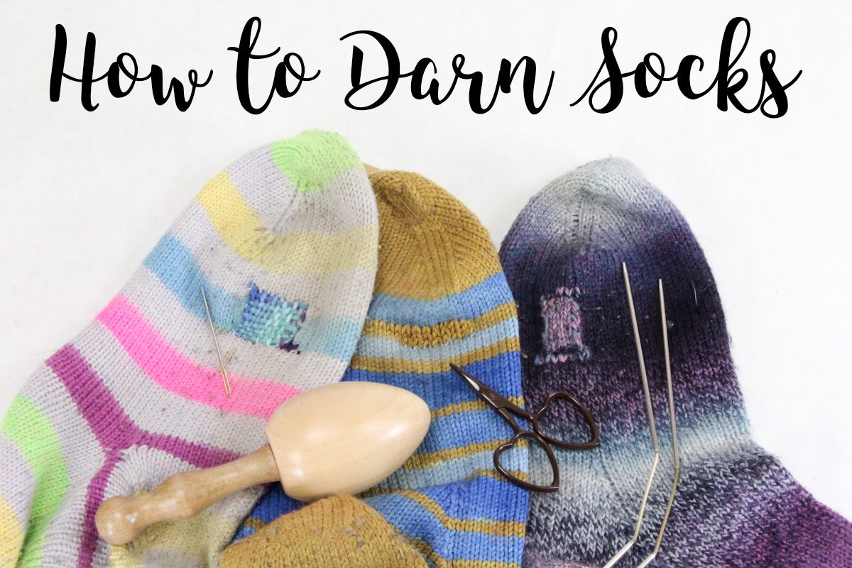 How To Darn Socks 3 Ways The Woolery