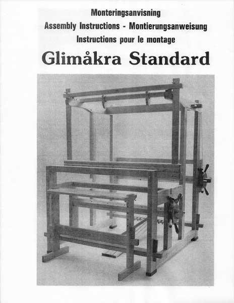 Glimakra loom assembly instructions