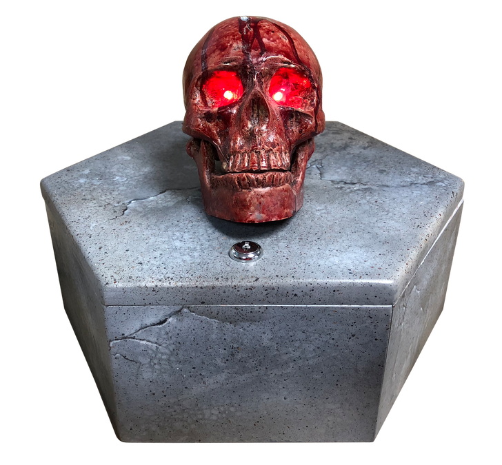 Copper Skull Coin Box Escape Room Prop