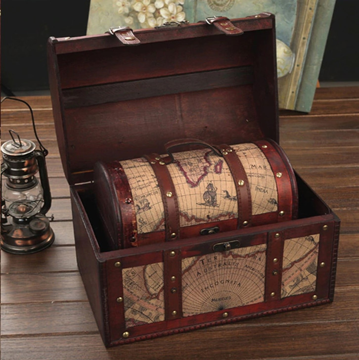 3-Pack Chests w/ Map Design - Escape Room Prop