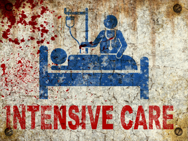 Intensive Care Sign - Halloween Decor Prop Road and Lawn Decoration Sticker