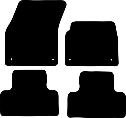 LANDROVER RANGE ROVER EVOQUE FITS YEARS 2011 TO 2013 THIS IS A FOUR PIECE SET WITH FLOOR FIXINGS CLIPS IN ALL FOUR MATS
