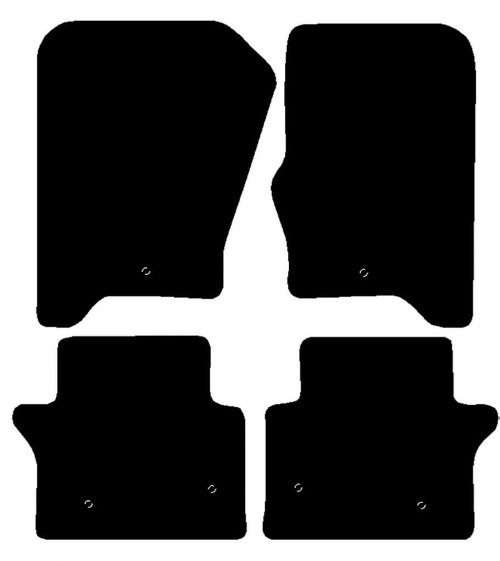 LANDROVER RANGE ROVER SPORT YEARS 2008 TO 2013 THIS IS A FOUR PIECE SET WITH 1 X FLOOR FIXINGS CLIP IN THE DRIVER & PASSENGER MATS & TWO IN THE REAR MATS