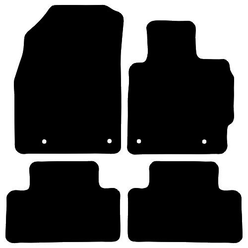 MAZDA CX7 FITS YEAR 2007 TO 2012 THIS IS A FOUR PIECE SET WITH FLOOR FIXING CLIPS IN THE DRIVER & PASSENGER MATS