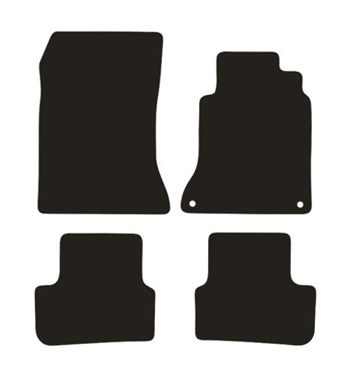 MERCEDES A CLASS FITS YEARS 2012 TO 2018 THIS IS A FOUR PIECE SET WITH FLOOR FIXING CLIPS IN THE DRIVERS MAT