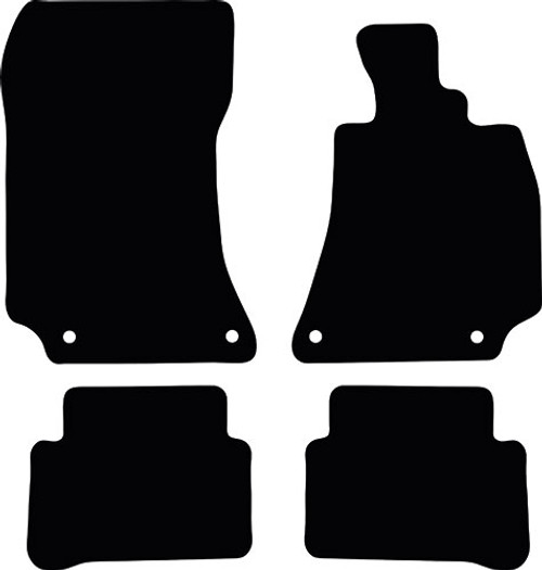 MERCEDES E CLASS SALOON FITS YEARS 2013 TO 2016 THIS IS A FOUR PIECE SET WITH FLOOR FIXING CLIPS IN DRIVER AND PASSENGER MATS