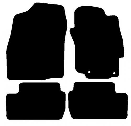 MITSUBISHI LANCER EVO MK10 MANUAL FITS YEARS 2008 TO 2011 THIS IS A FOUR PIECE SET WITH FLOOR FIXING CLIPS IN THE DRIVERS MAT