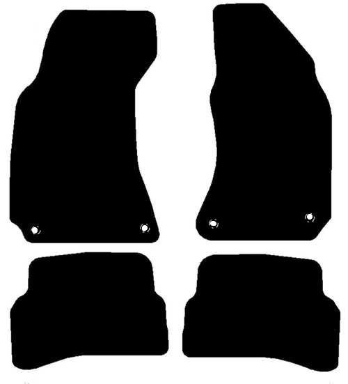 VW PASSAT FITS YEARS 2000 TO 2005 THIS IS A FOUR PIECE SET WITH ROUND FLOOR FIXING CLIPS IN THE DRIVER & PASSENGER MATS