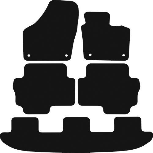 VW SHARAN FITS YEARS 2010 TO PRESENT DATE THIS IS A FIVE PIECE SET WITH FLOOR FIXING CLIPS IN THE DRIVER & PASSENGER MATS